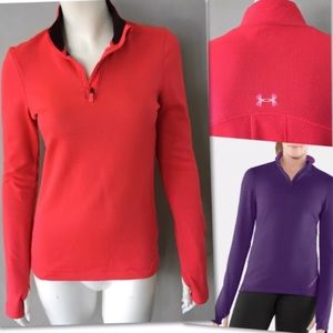 UNDER ARMOUR THERMO 1/4 ZIP COLD GEAR SHIRT SZ S